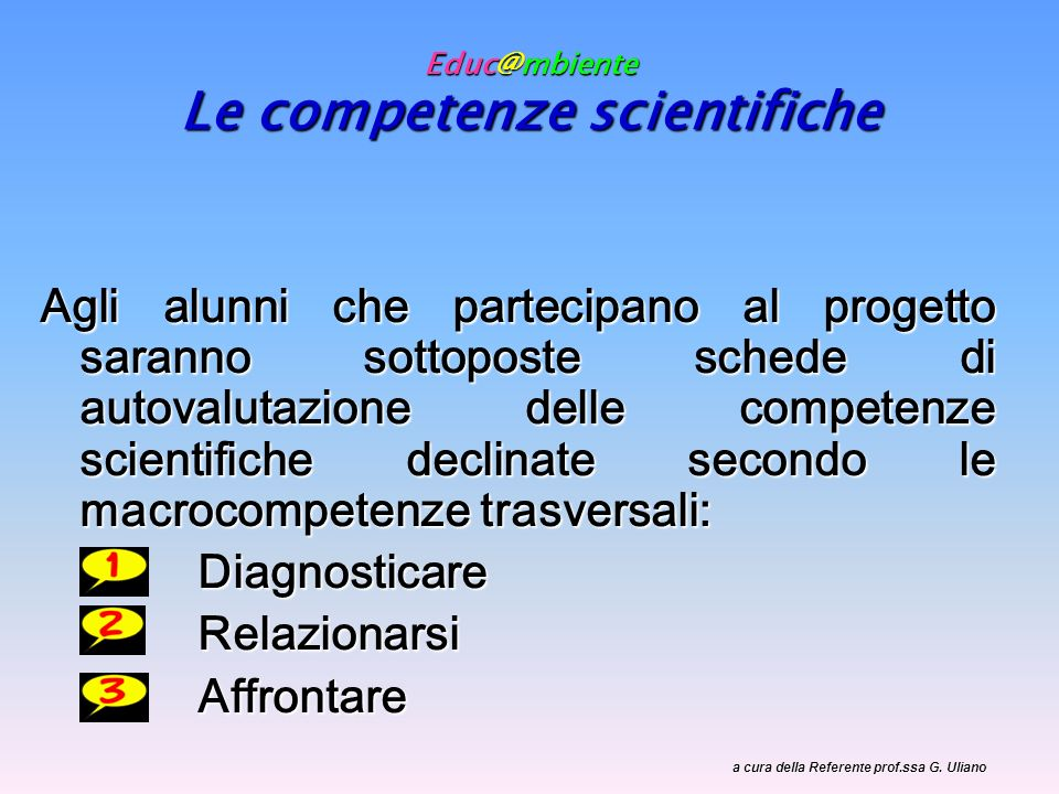 Educ@mbiente Le competenze scientifiche