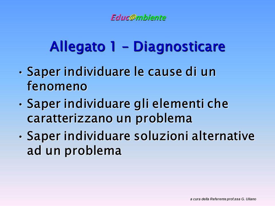 Educ@mbiente Allegato 1 – Diagnosticare