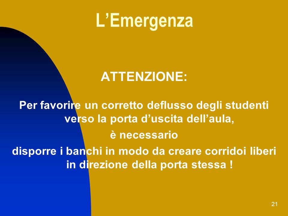 L'Emergenza ATTENZIONE: