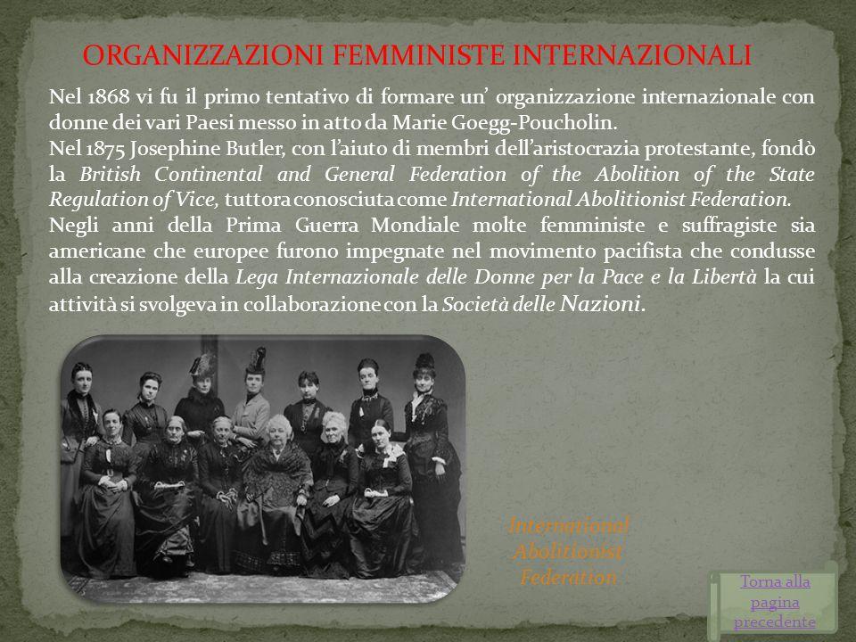 ORGANIZZAZIONI FEMMINISTE INTERNAZIONALI