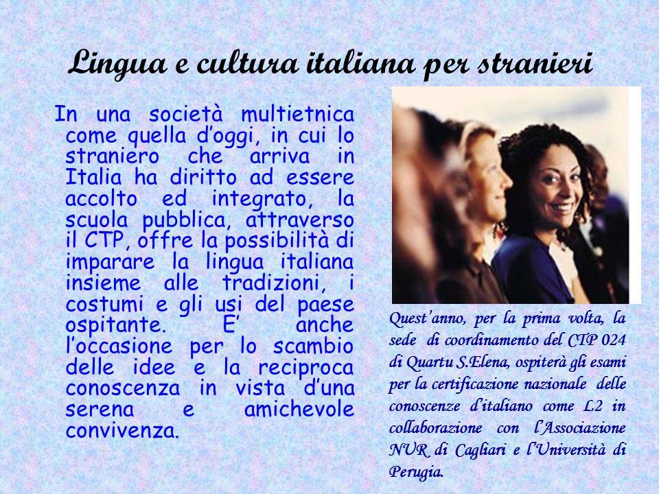 Lingua e cultura italiana per stranieri