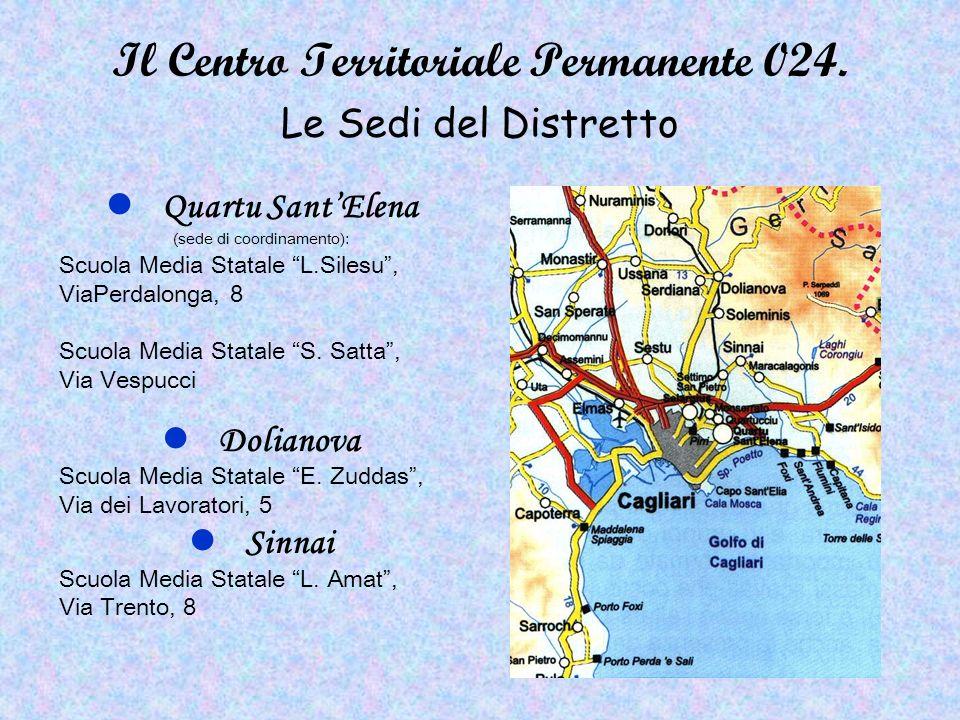 Il Centro Territoriale Permanente 024. Le Sedi del Distretto