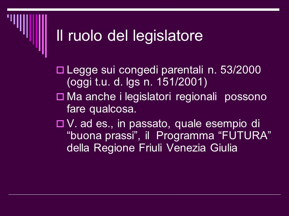Il ruolo del legislatore