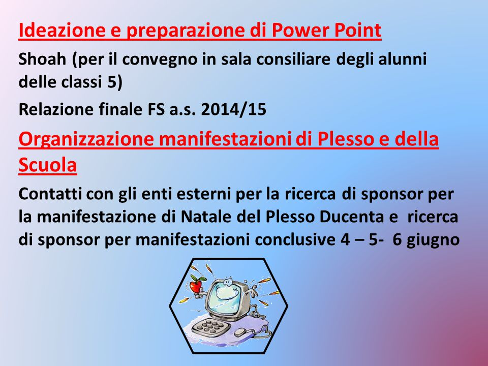 Ideazione e preparazione di Power Point