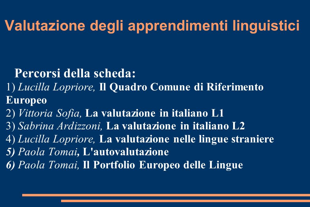 Valutazione degli apprendimenti linguistici
