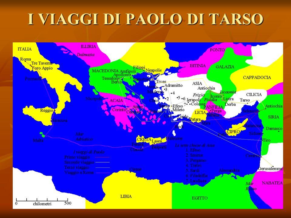 I VIAGGI DI PAOLO DI TARSO
