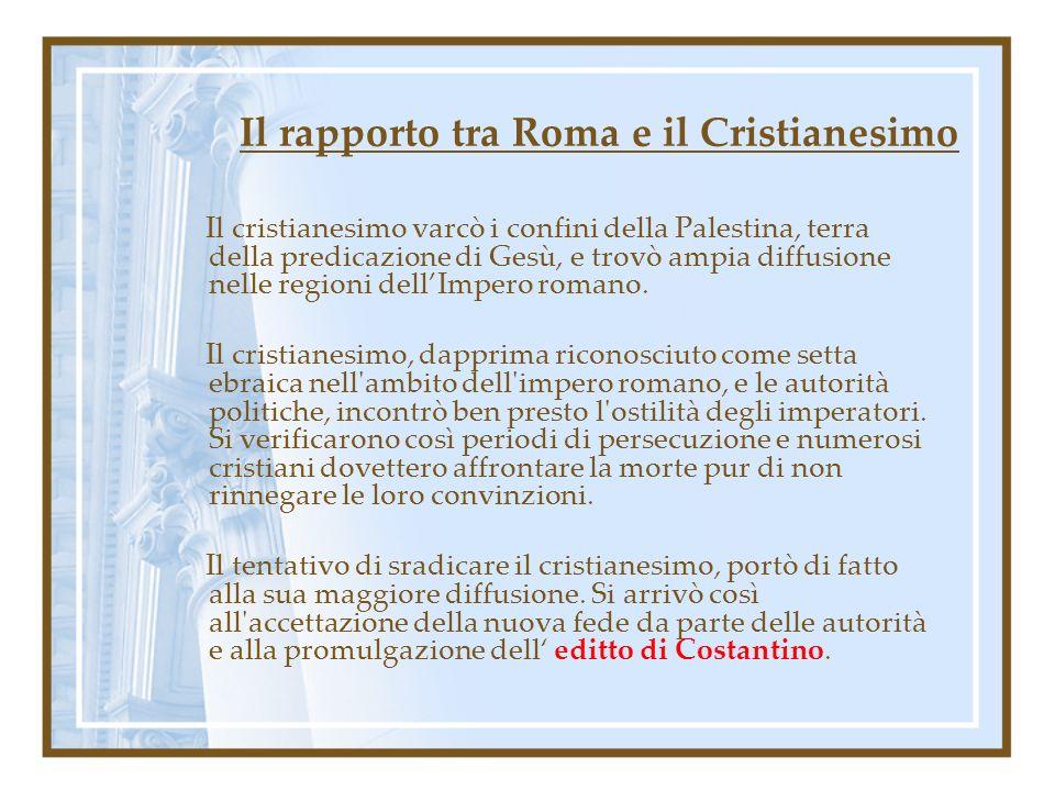 Il rapporto tra Roma e il Cristianesimo