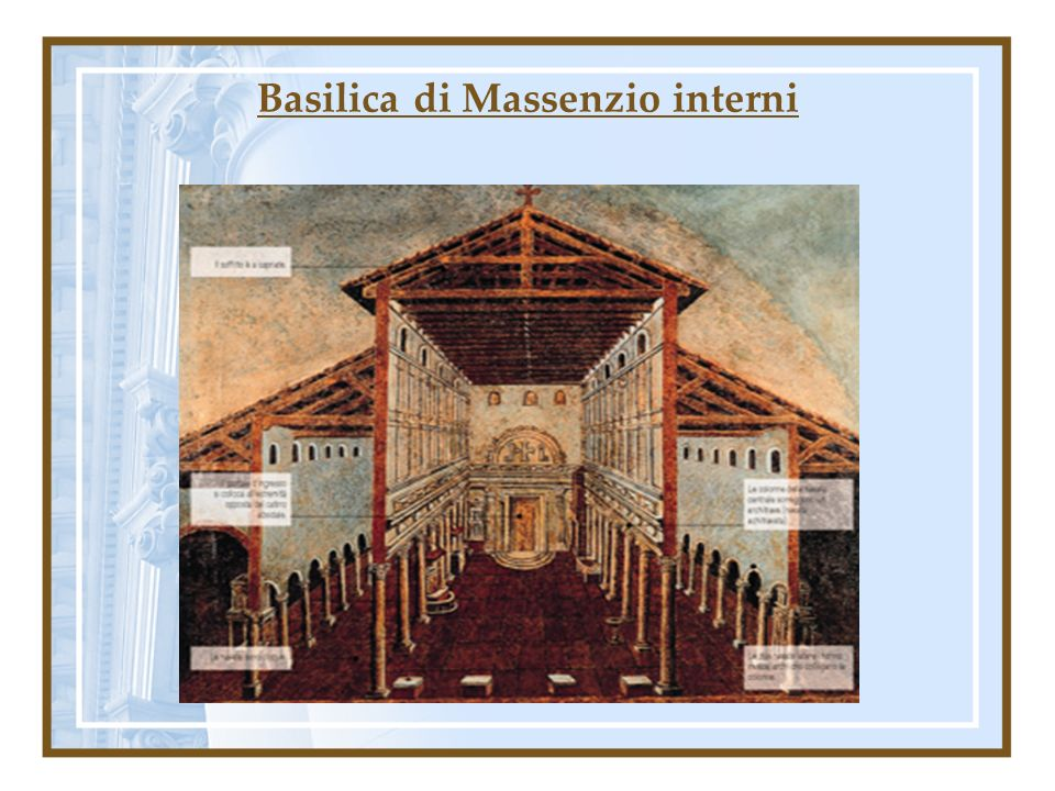 Basilica di Massenzio interni