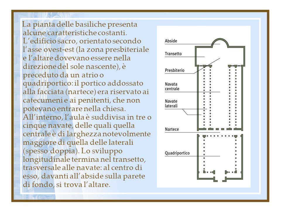 La pianta delle basiliche presenta alcune caratteristiche costanti