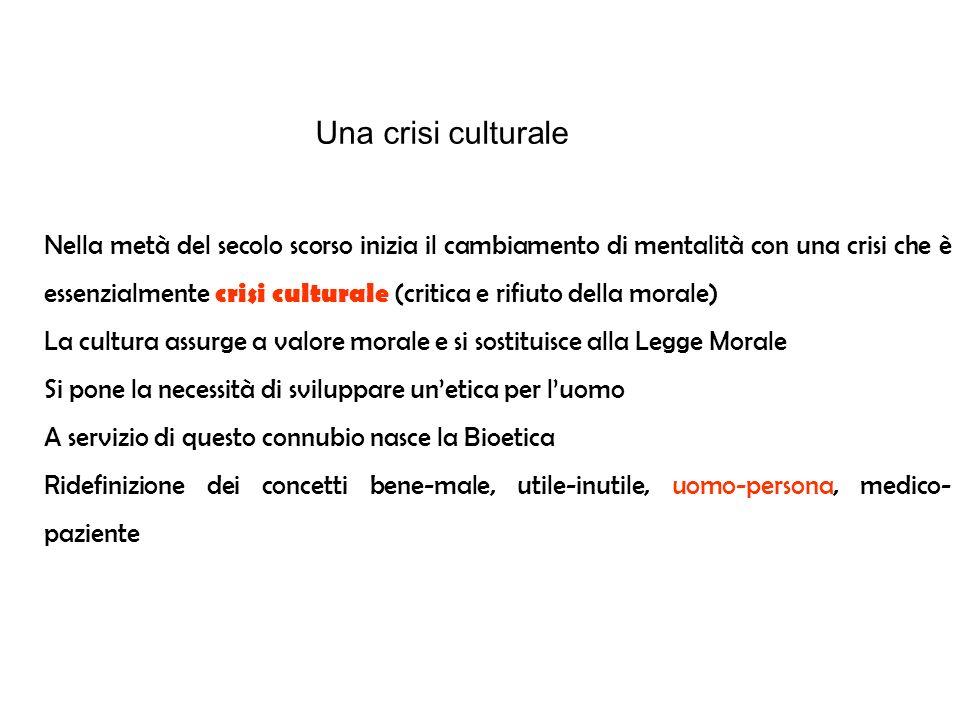 Una crisi culturale