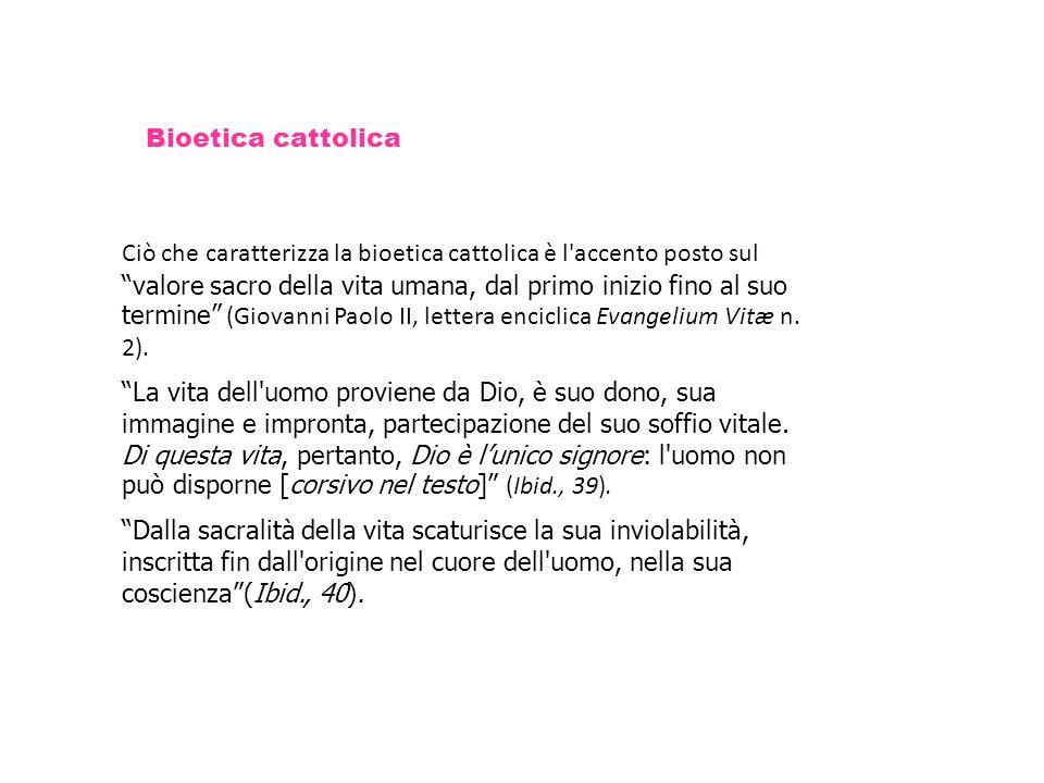Bioetica cattolica