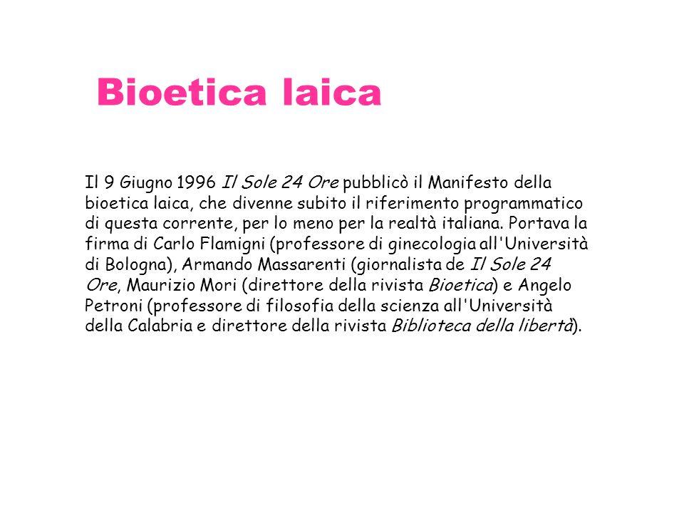 Bioetica laica