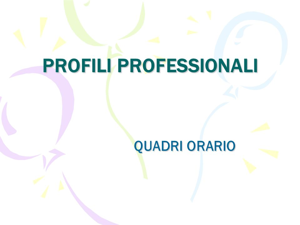 profili professionali