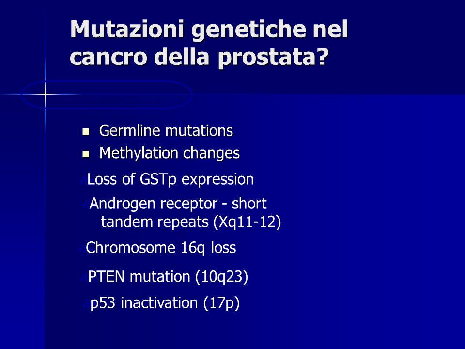 Mutazioni genetiche nel cancro della prostata