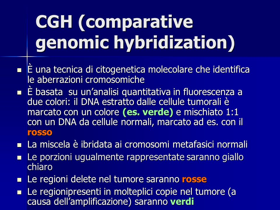 CGH (comparative genomic hybridization)