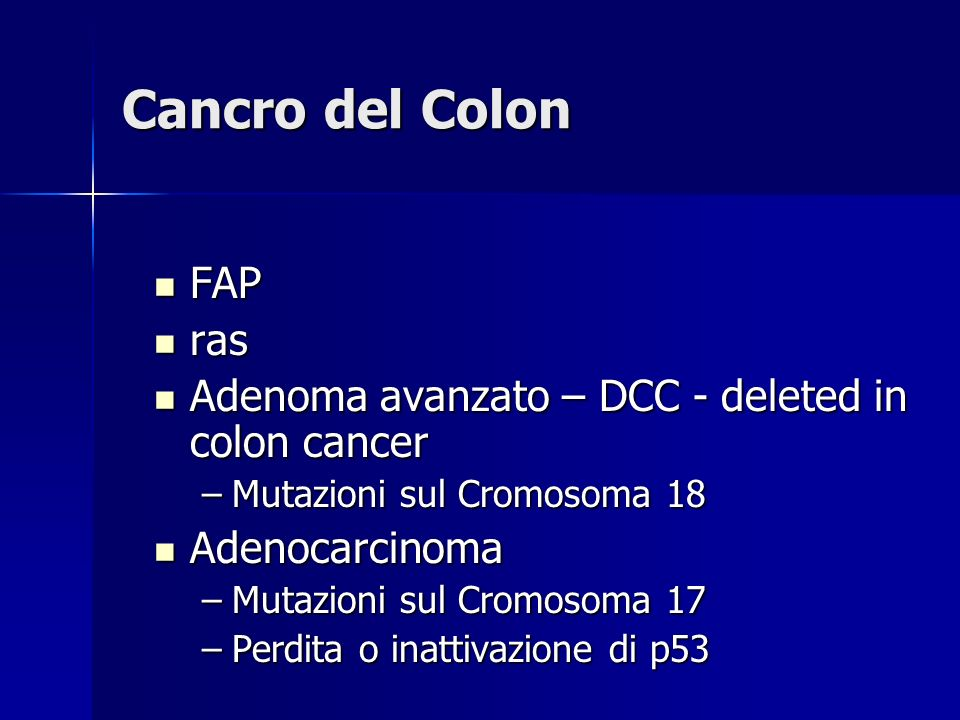 Cancro del Colon FAP ras