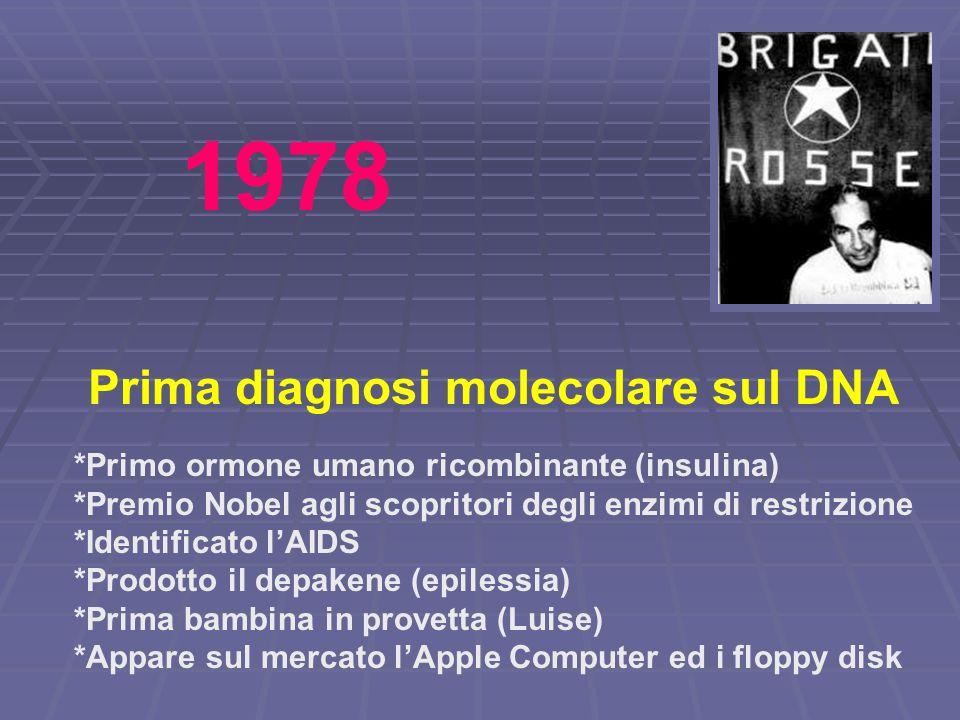 1978 Prima diagnosi molecolare sul DNA