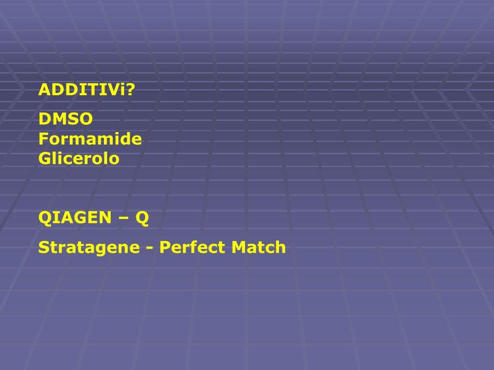 ADDITIVi DMSO Formamide Glicerolo QIAGEN – Q Stratagene - Perfect Match