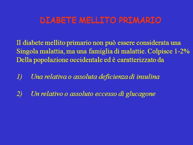 DIABETE MELLITO PRIMARIO
