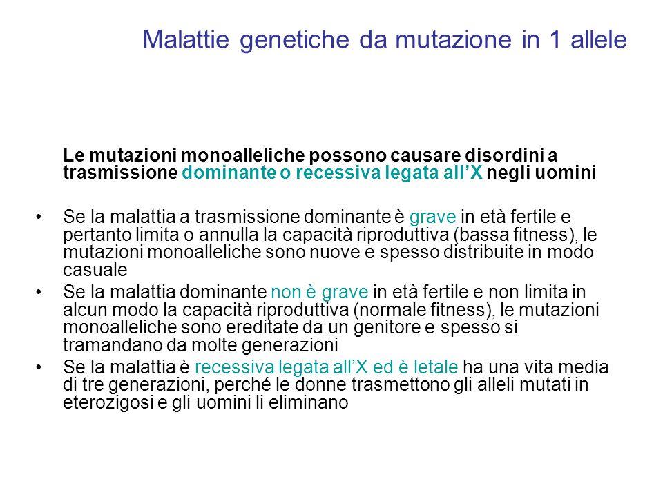 Malattie genetiche da mutazione in 1 allele