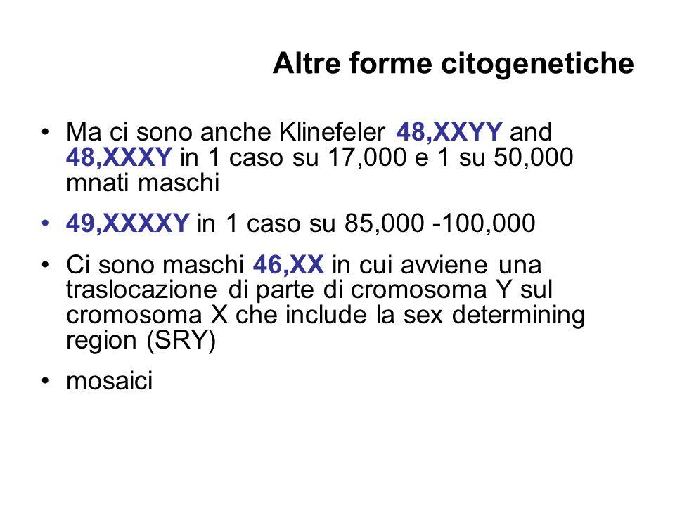 Altre forme citogenetiche