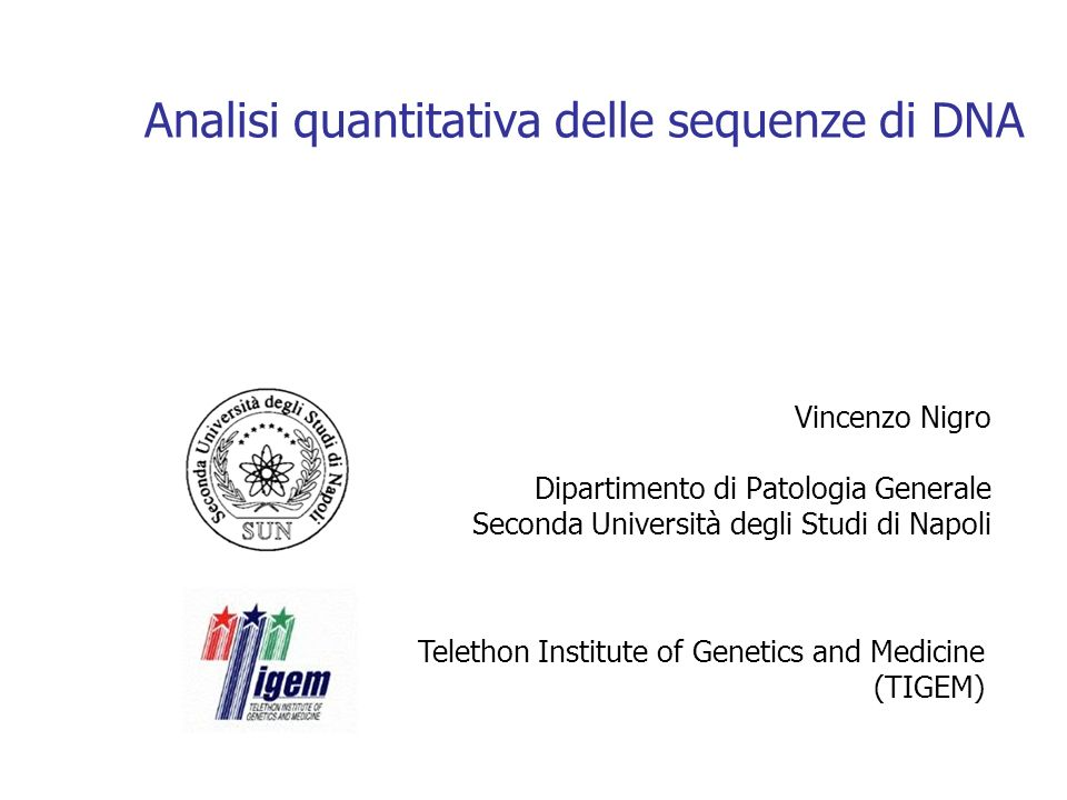 Analisi quantitativa delle sequenze di DNA
