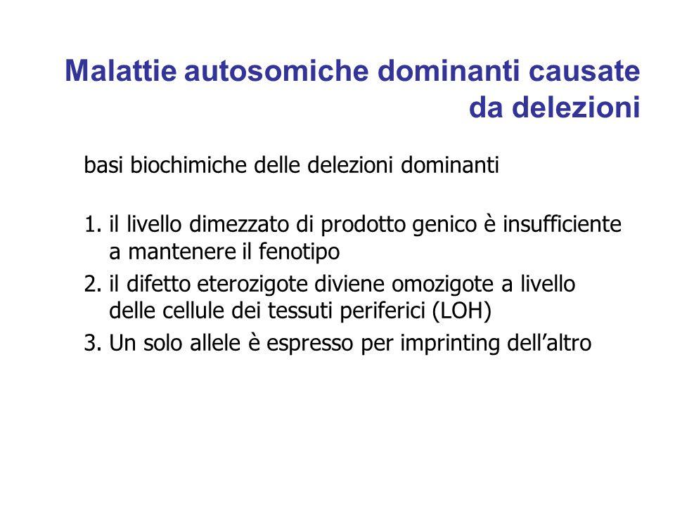 Malattie autosomiche dominanti causate da delezioni