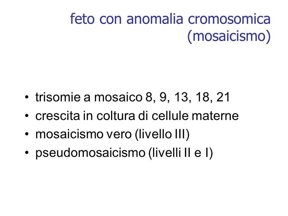 feto con anomalia cromosomica (mosaicismo)