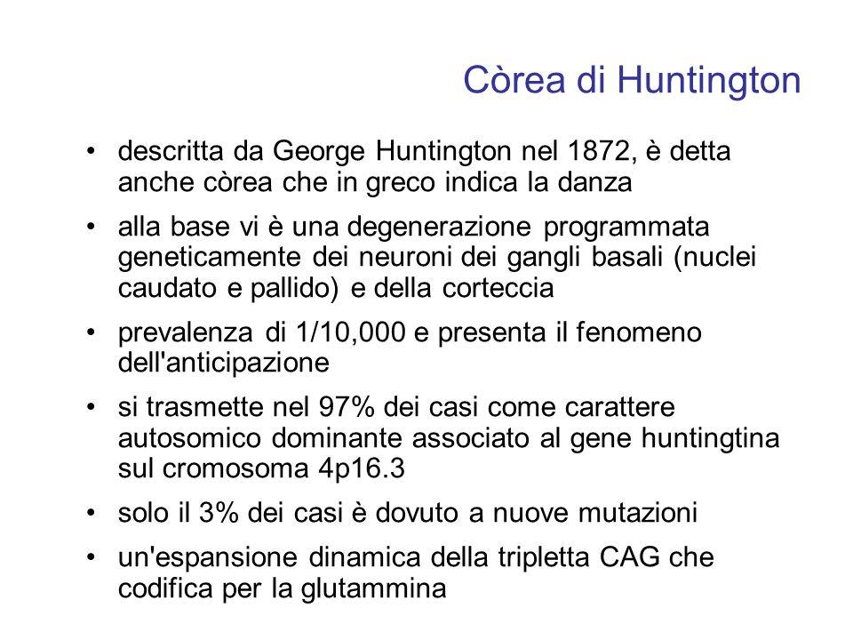 Còrea di Huntington descritta da George Huntington nel 1872, è detta anche còrea che in greco indica la danza.