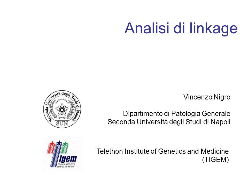 Analisi di linkage Vincenzo Nigro Dipartimento di Patologia Generale