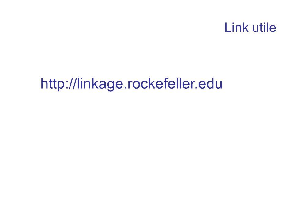 Link utile http://linkage.rockefeller.edu