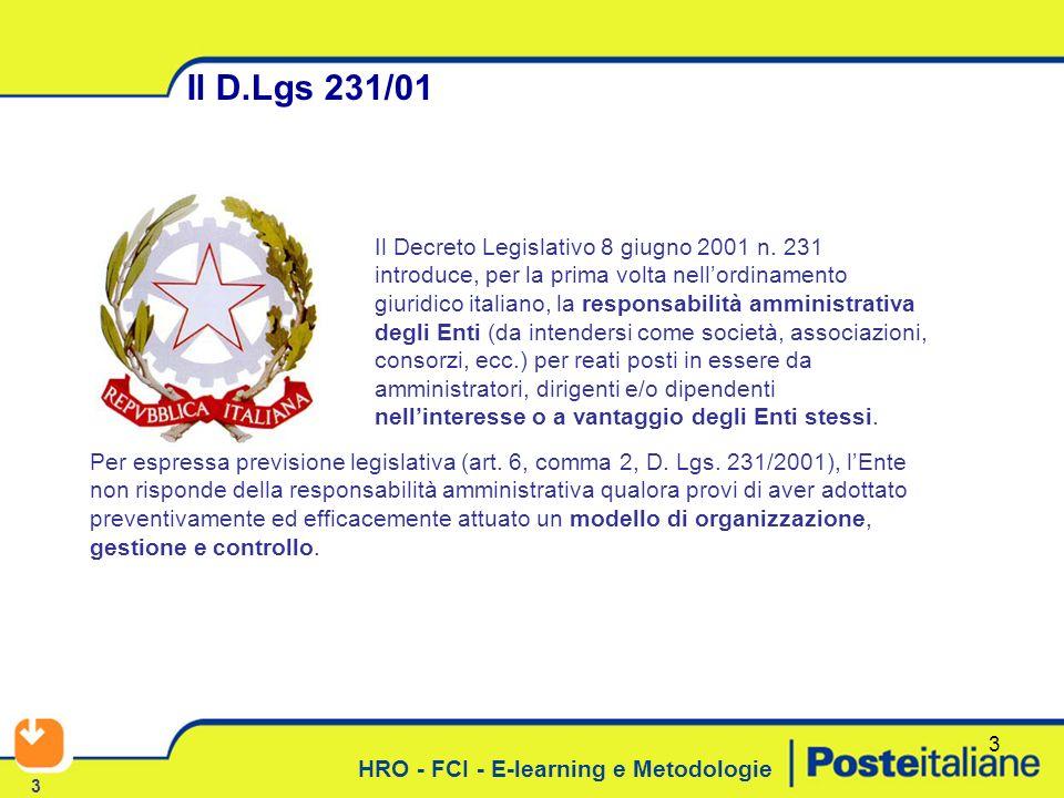 Il D.Lgs 231/01