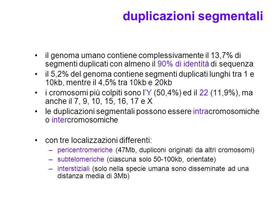 duplicazioni segmentali