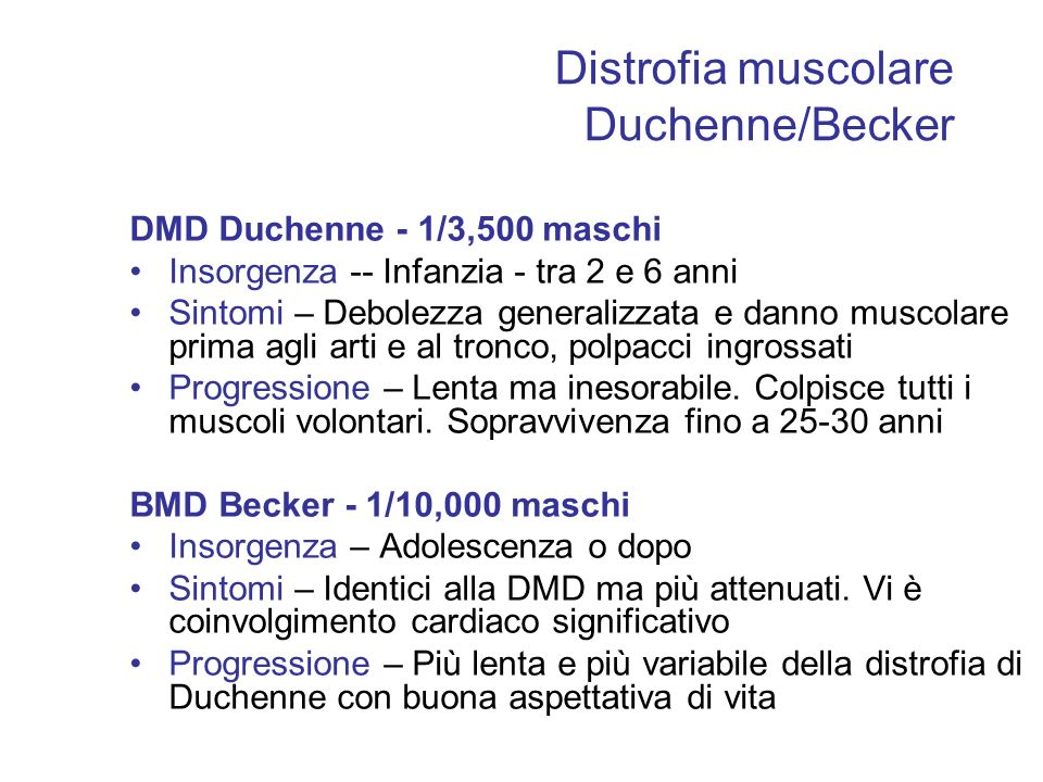 Distrofia muscolare Duchenne/Becker