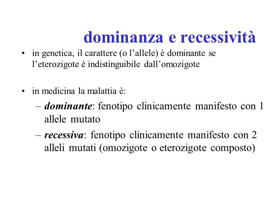 dominanza e recessività