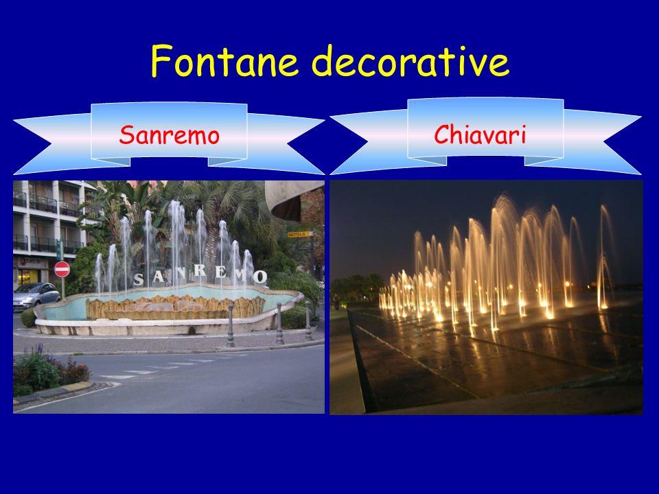 Fontane decorative Sanremo Chiavari