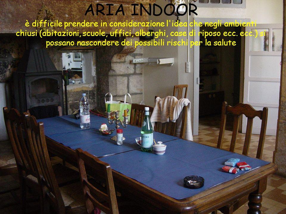 ARIA INDOOR è difficile prendere in considerazione l idea che negli ambienti chiusi (abitazioni, scuole, uffici, alberghi, case di riposo ecc.
