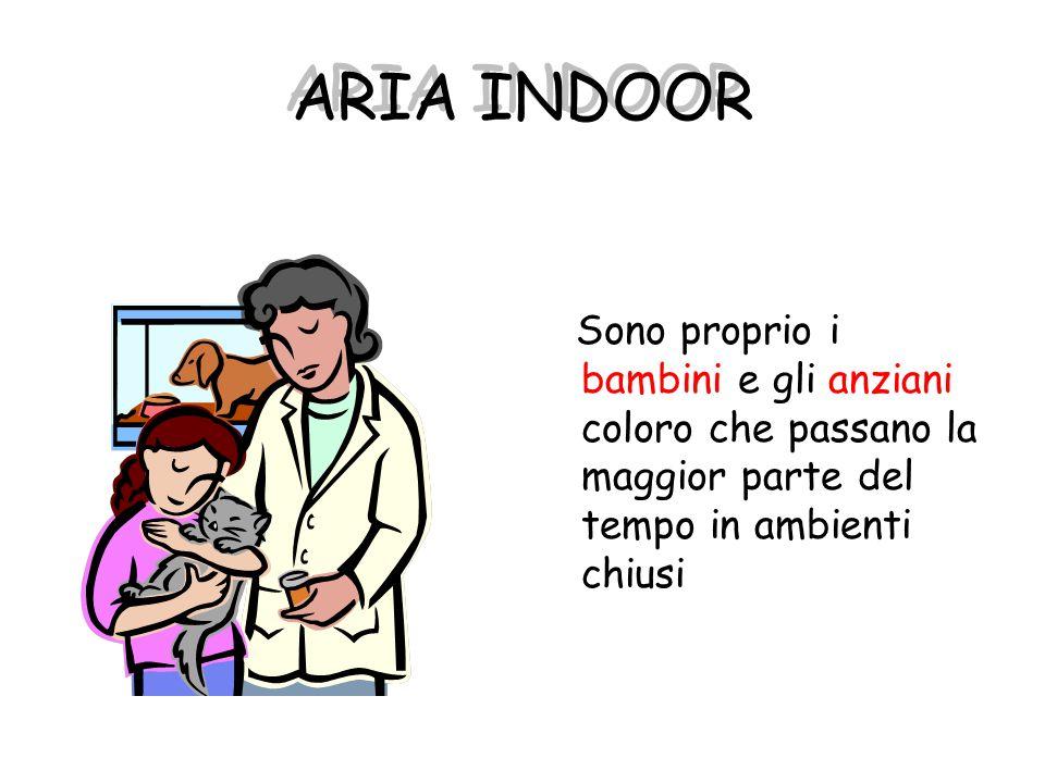 ARIA INDOOR Sono proprio i bambini e gli anziani coloro che passano la maggior parte del tempo in ambienti chiusi.