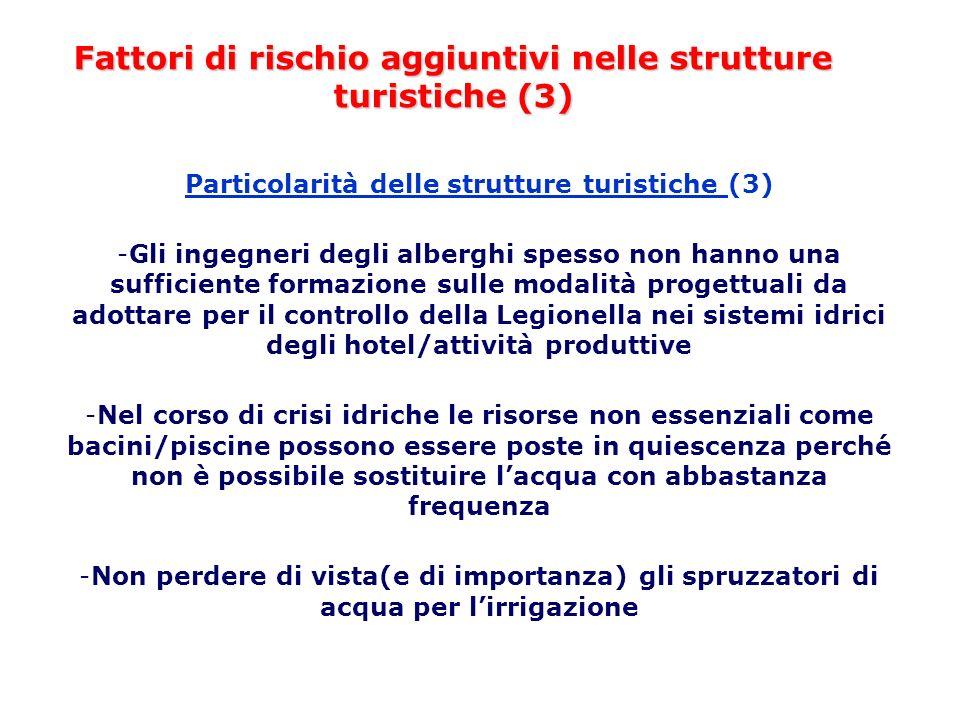 Fattori di rischio aggiuntivi nelle strutture turistiche (3)