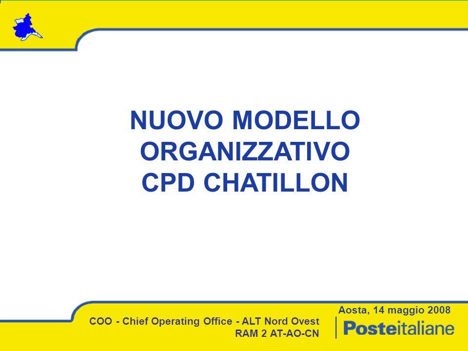 NUOVO MODELLO ORGANIZZATIVO CPD CHATILLON