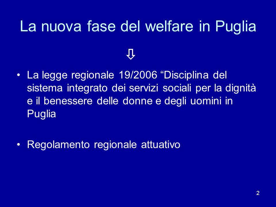 La nuova fase del welfare in Puglia