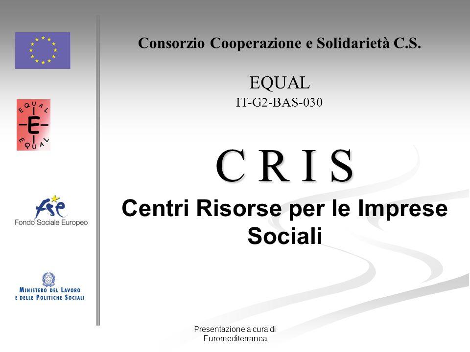 C R I S Centri Risorse per le Imprese Sociali EQUAL