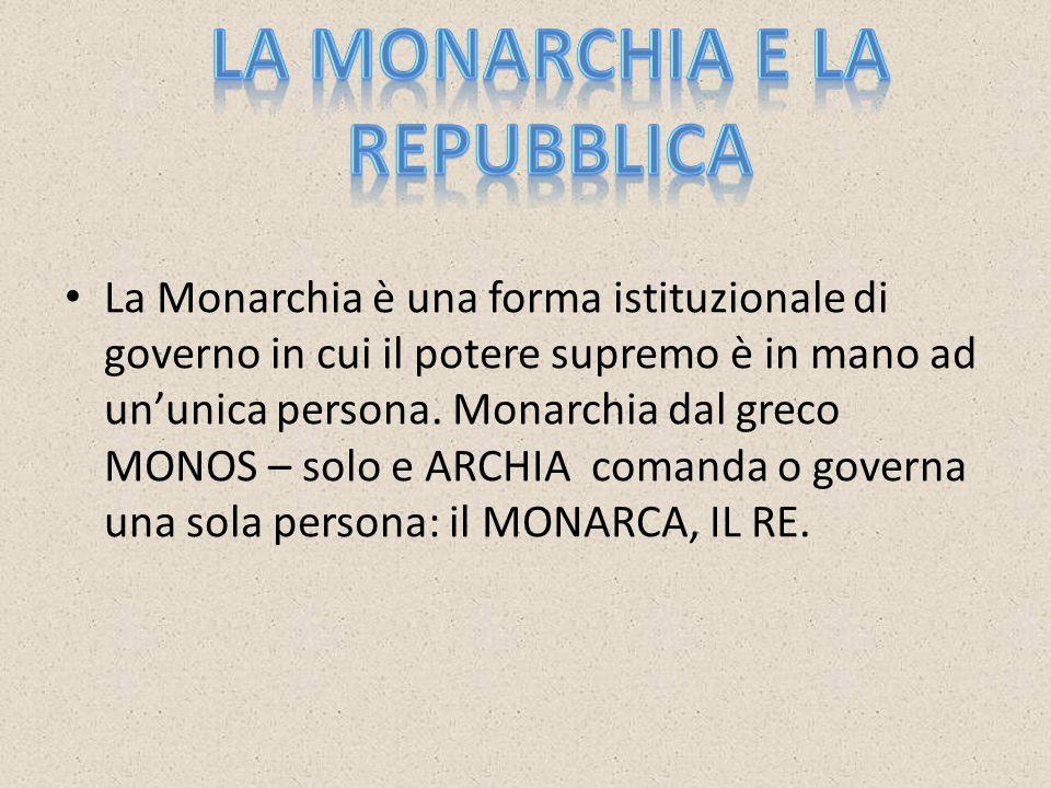 La Monarchia e la Repubblica