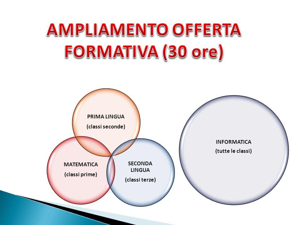 AMPLIAMENTO OFFERTA FORMATIVA (30 ore)