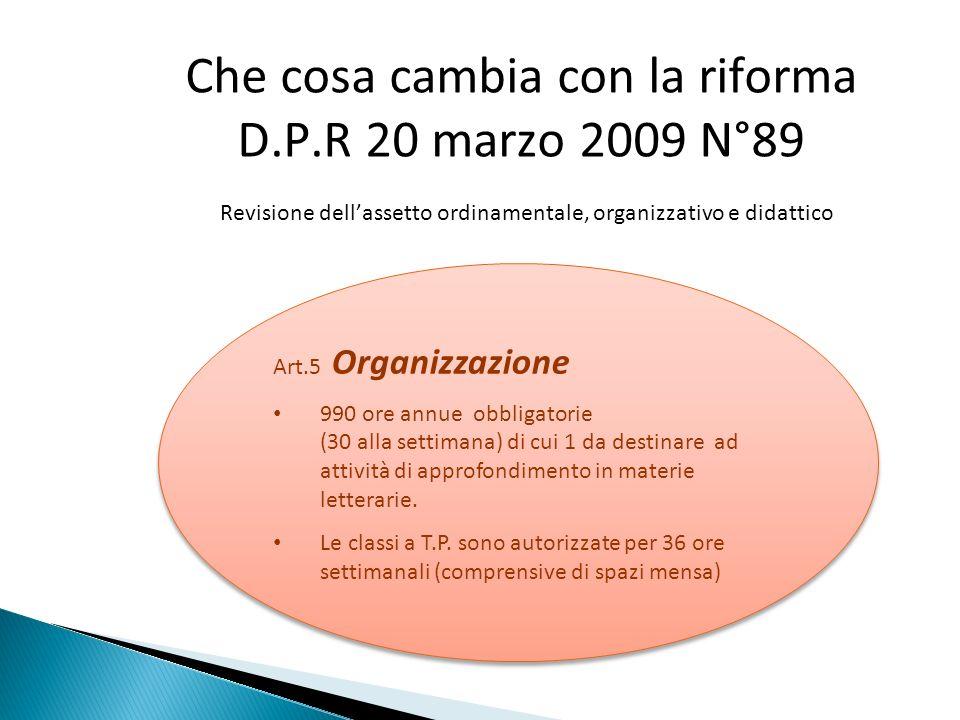 Che cosa cambia con la riforma D. P