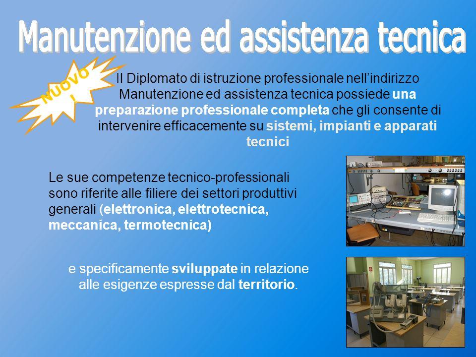 Manutenzione ed assistenza tecnica Manutenzione ed assistenza tecnica