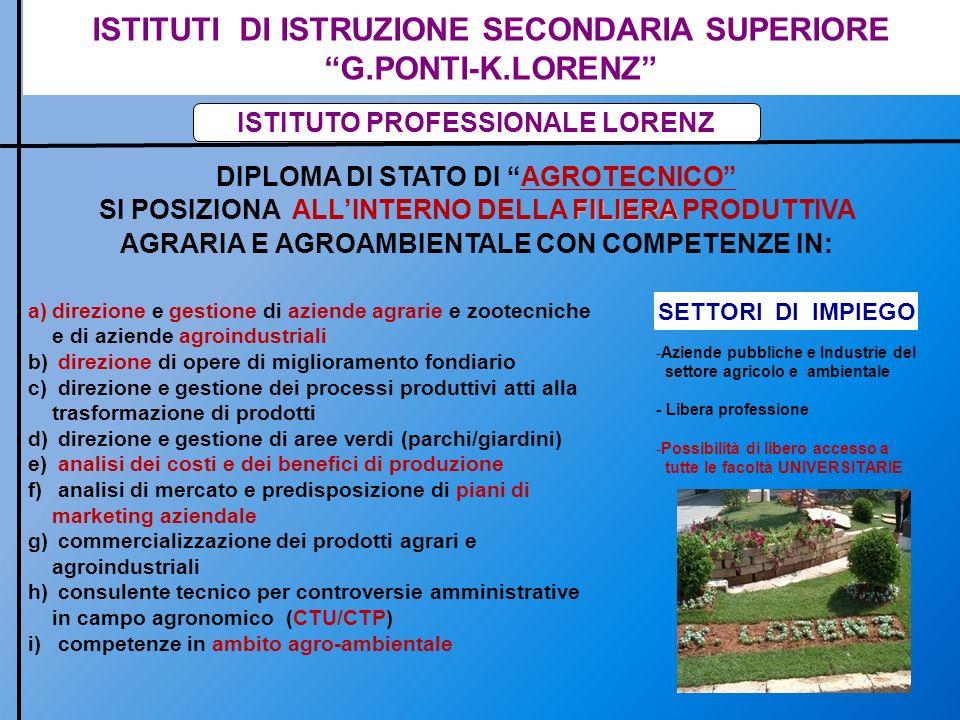 ISTITUTI DI ISTRUZIONE SECONDARIA SUPERIORE G.PONTI-K.LORENZ