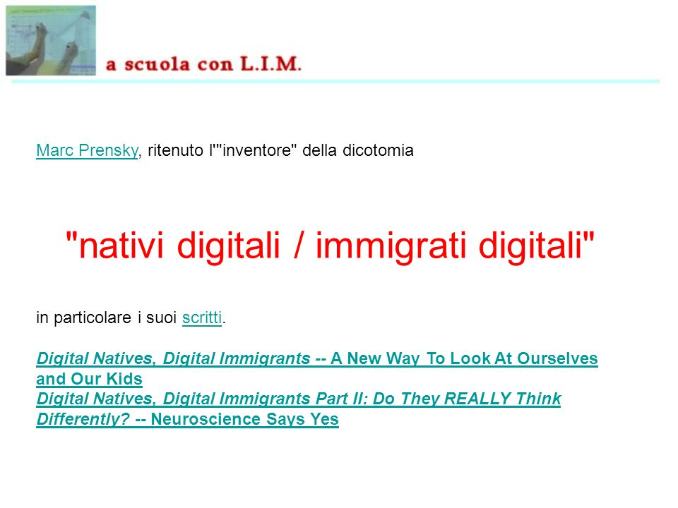 nativi digitali / immigrati digitali