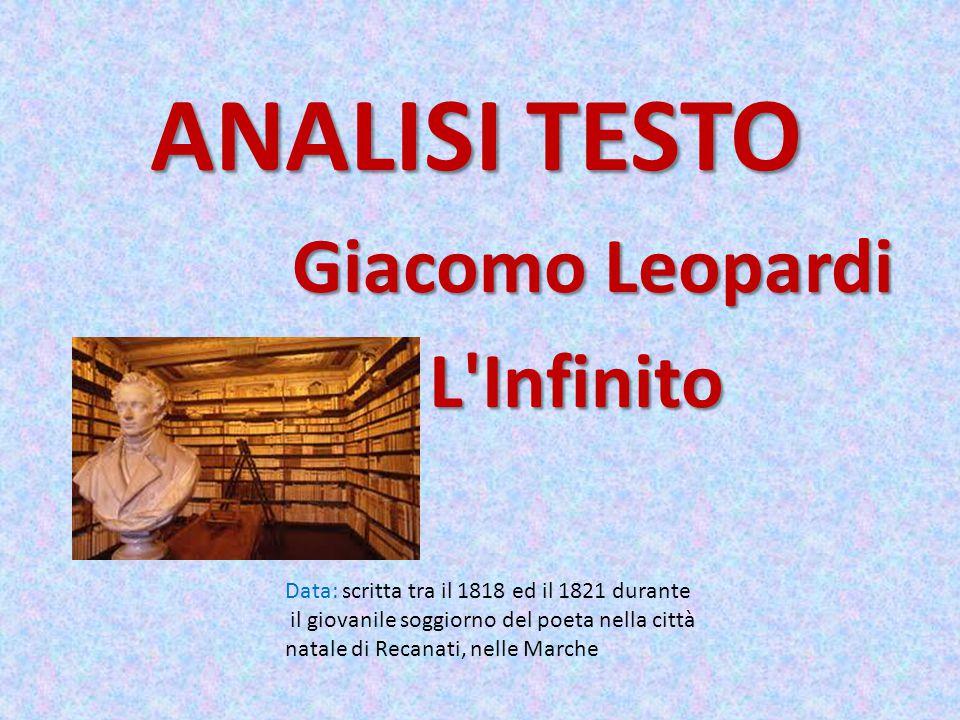 ANALISI TESTO Giacomo Leopardi L Infinito