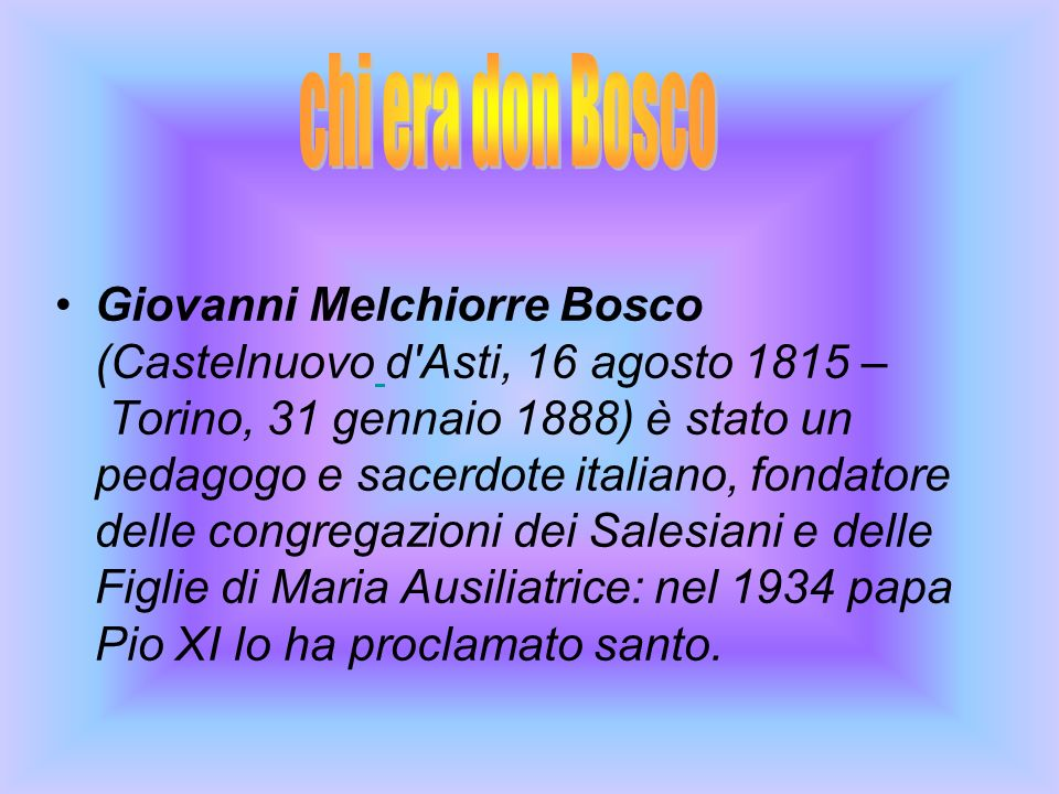 chi era don Bosco